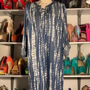 A.N.A A New Approach Tie Dye denim dress